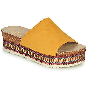 Schoenen Dames Leren slippers Bullboxer 886014F1TAMUST Orange