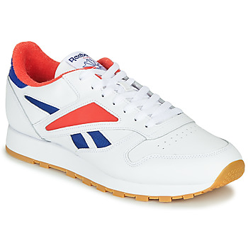 Schoenen Heren Lage sneakers Reebok Classic CL LEATHER MARK Grijs / Wit / Rood