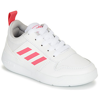 Schoenen Meisjes Lage sneakers adidas Performance TENSAUR K Wit / Roze