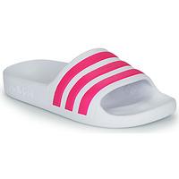 Schoenen Meisjes Slippers adidas Performance ADILETTE AQUA K Wit / Roze