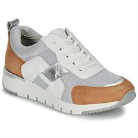 Schoenen Dames Lage sneakers Caprice  Wit /  camel