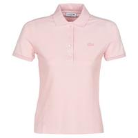 Textiel Dames Polo's korte mouwen Lacoste PH5462 SLIM Roze