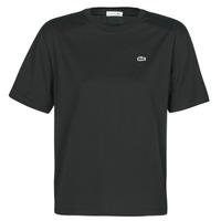Textiel Dames T-shirts korte mouwen Lacoste BERNARD Zwart