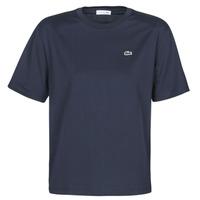 Textiel Dames T-shirts korte mouwen Lacoste ELOI Marine