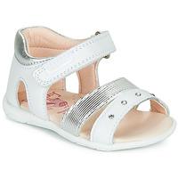 Schoenen Meisjes Sandalen / Open schoenen Pablosky DINNA Wit / Zilver