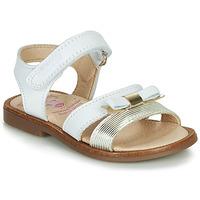 Schoenen Meisjes Sandalen / Open schoenen Pablosky  Wit / Goud