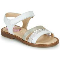 Schoenen Meisjes Sandalen / Open schoenen Pablosky PINNA Wit / Nacre