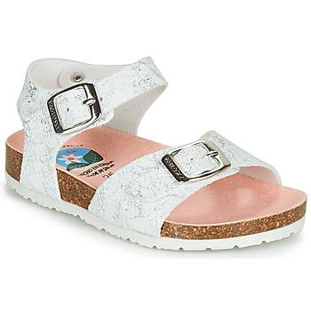 Schoenen Meisjes Sandalen / Open schoenen Pablosky SATTO Wit / Zilver