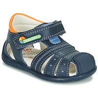 Schoenen Jongens Sandalen / Open schoenen Pablosky  Marine / Orange