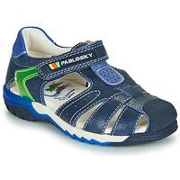Schoenen Jongens Sandalen / Open schoenen Pablosky  Marine / Groen
