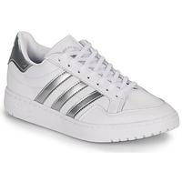 Schoenen Lage sneakers adidas Originals MODERN 80 EUR COURT W Wit / Zilver