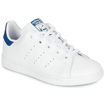 Schoenen Kinderen Lage sneakers adidas Originals STAN SMITH C Wit / Blauw