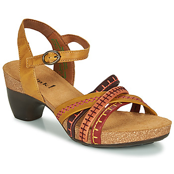 Schoenen Dames Sandalen / Open schoenen Think TRAUDI Geel / Rood