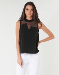 Textiel Dames Tops / Blousjes Guess SL MAYA TOP Zwart