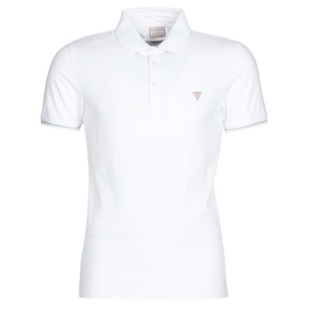 Textiel Heren Polo's korte mouwen Guess AMIAS SS POLO Wit
