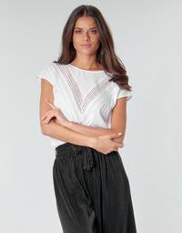 Textiel Dames Tops / Blousjes Guess SS MALIKA TOP Wit