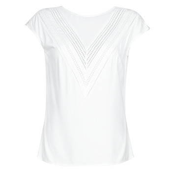 Textiel Dames Tops / Blousjes Guess SS MALIKA TOP Wit