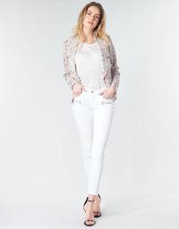 Textiel Dames Skinny Jeans Le Temps des Cerises KIEV SKINY7/8 Wit