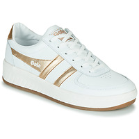 Schoenen Dames Lage sneakers Gola GRANDSLAM LEATHER Wit / Goud