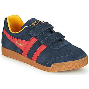 Schoenen Kinderen Lage sneakers Gola HARRIER VELCRO Blauw / Rood