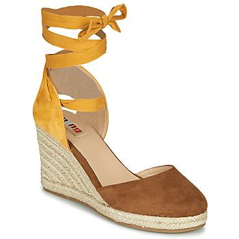 Schoenen Dames Sandalen / Open schoenen MTNG GELLO Brown / Mosterd