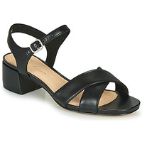 Schoenen Dames Sandalen / Open schoenen Clarks SHEER35 STRAP Zwart