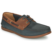 Schoenen Heren Derby Clarks PICKWELL SAIL Marine / Brown