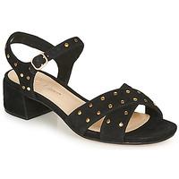 Schoenen Dames Sandalen / Open schoenen Clarks SHEER35 STRAP Zwart / Spijker