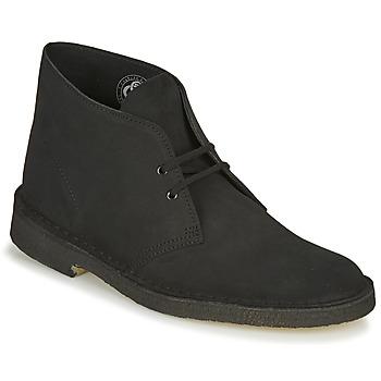 Schoenen Heren Laarzen Clarks DESERT BOOT Zwart