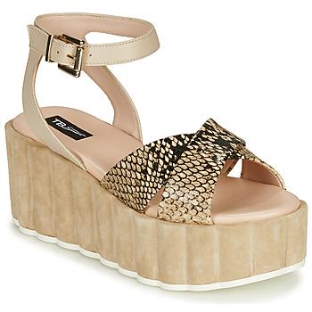 Schoenen Dames Sandalen / Open schoenen Tosca Blu MOOREA Beige / Python
