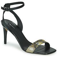 Schoenen Dames Sandalen / Open schoenen Tosca Blu LA-DIGUE Zwart / Python / Geel