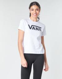Textiel Dames T-shirts met lange mouwen Vans FLYING V CREW TEE Wit