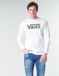 Textiel Heren T-shirts met lange mouwen Vans VANS CLASSIC Wit