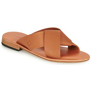 Schoenen Dames Leren slippers Dream in Green MARNITO  camel
