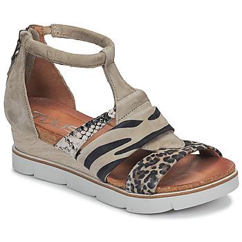 Schoenen Dames Sandalen / Open schoenen Mjus TAPASITA Taupe / Leopard