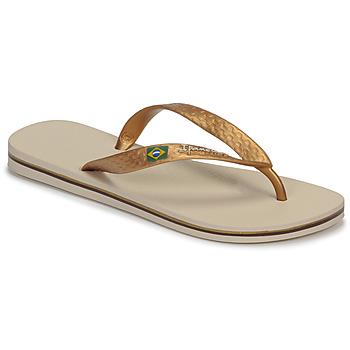 Schoenen Dames Slippers Ipanema CLAS BRASIL II Beige / Goud