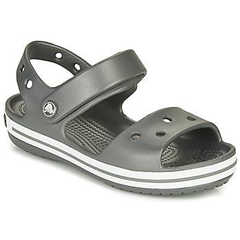 Schoenen Kinderen Outdoorsandalen Crocs CROCBAND SANDAL KIDS  zwart / Wit