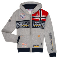 Textiel Jongens Sweaters / Sweatshirts Geographical Norway FLYER Grijs
