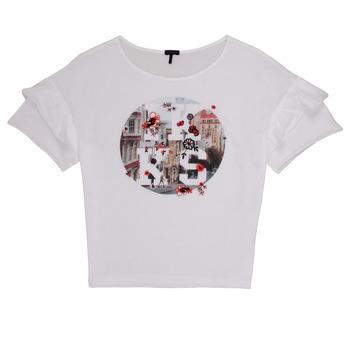Textiel Meisjes T-shirts korte mouwen Ikks DIBILIOU Wit