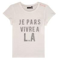 Textiel Meisjes T-shirts korte mouwen Ikks DARRIAL Wit