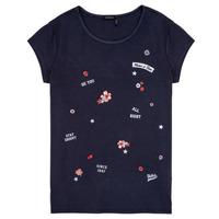 Textiel Meisjes T-shirts korte mouwen Ikks POSTALE Marine