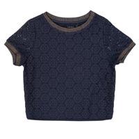 Textiel Meisjes Tops / Blousjes Ikks CLOTHILDE Marine