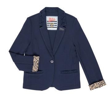 Textiel Meisjes Jasjes / Blazers Ikks NIKO Marine