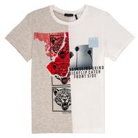 Textiel Jongens T-shirts korte mouwen Ikks RULIO Beige / Wit