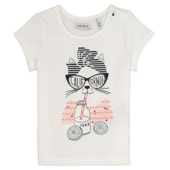 Textiel Meisjes T-shirts korte mouwen Ikks MEOLIA Wit