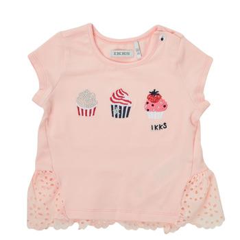 Textiel Meisjes T-shirts korte mouwen Ikks DANIA Roze