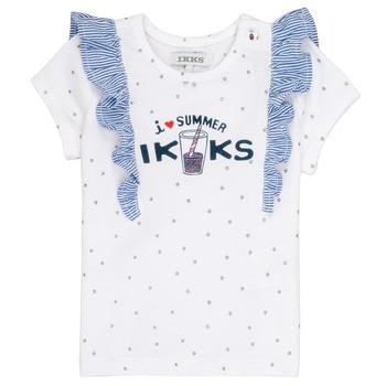 Textiel Meisjes T-shirts korte mouwen Ikks HILONA Wit