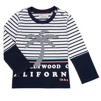 Textiel Jongens T-shirts met lange mouwen Ikks LAURA Multicolour