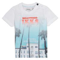 Textiel Jongens T-shirts korte mouwen Ikks JOSIANE Wit