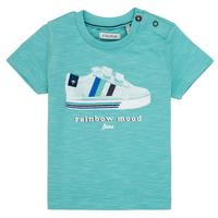 Textiel Jongens T-shirts korte mouwen Ikks MARIA Turquoise